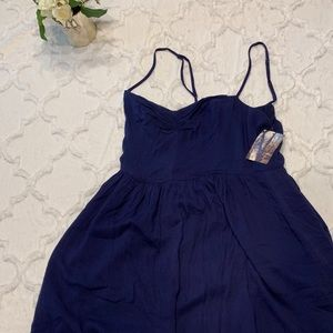 NEW Luca Couture scrappy dress - Navy M - NWT